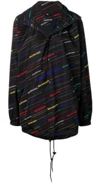 Allover Logo Raincoat - Balenciaga