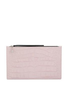 Crocodile-effect Clutch Bag - Alexander Mcqueen
