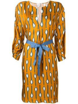Patterned Fitted Dress - Alysi