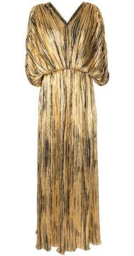 Pleated Flared Maxi Dress - Dima Ayad