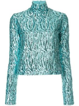 Sequinned Turtleneck Top - 16arlington
