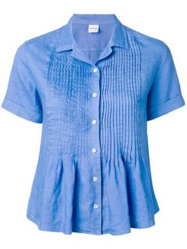 Short-sleeve Pleated Shirt - Aspesi