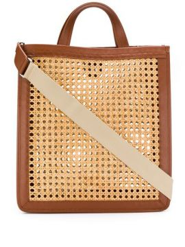 C Woven Tote Bag - Coccinelle