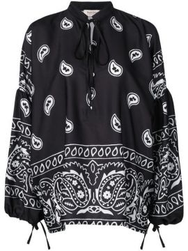 Paisley Pullover - Black Coral