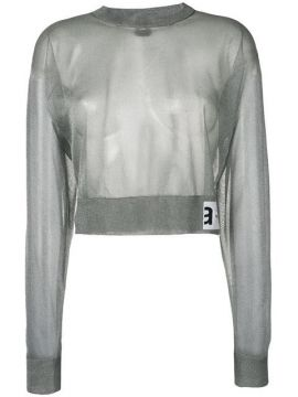 Cropped Sheer Sweater - Artica Arbox