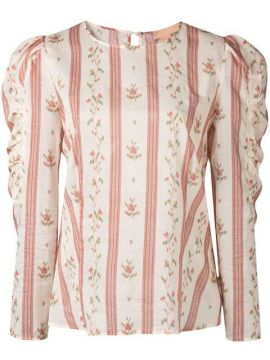 Floral Striped Blouse - Brock Collection