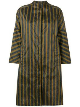 Oversized Striped Raincoat - Aspesi
