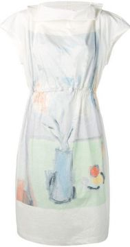 Printed Roll-neck Dress - Anntian