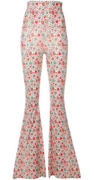 Floral Print Flared Trousers - C est La V.it