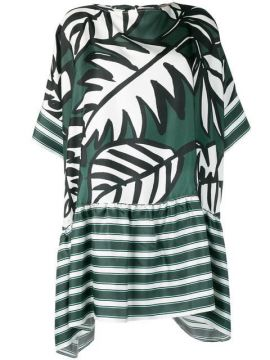 Leaf Print Dress - Altea