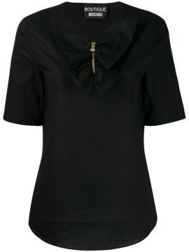 Ruffled Placket Top - Boutique Moschino