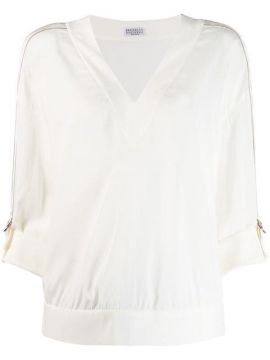 Rolled Sleeve Blouse - Brunello Cucinelli