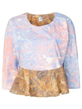 Marbled Print Blouse - Anntian