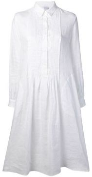 Pleated Bib Shirt Dress - Aspesi