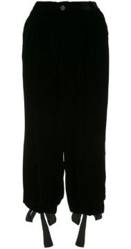 Tied Cuffs Cropped Trousers - Aleksandr Manamïs