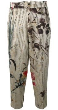 Chinese Peony Satin Trousers - Vivienne Westwood Anglomania