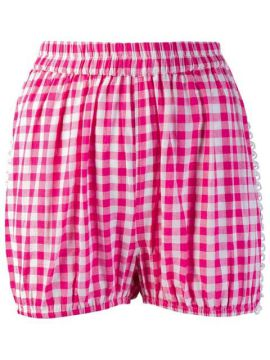 Lace Panel Checked Short - Dodo Bar Or