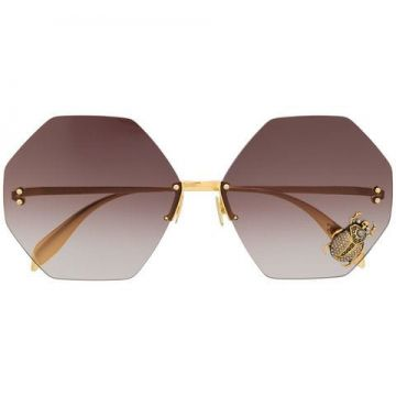 Tiger Eye Detail Sunglasses - Alexander Mcqueen Eyewear