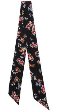 Floral Print Thin Scarf - Andamane