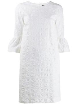 Textured Puff Sleeve Dress - Antonelli
