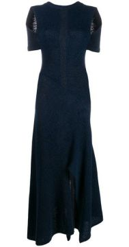 Long Knitted Dress With Shoulder Cut-outs - Chloé