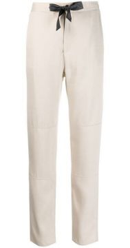 Drawstring Straight Trousers - Eleventy