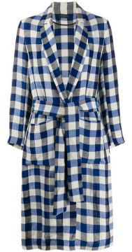 Gingham Trench Coat - Antonelli