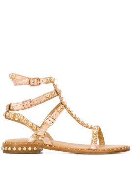 Play Studded Strappy Sandals - Ash