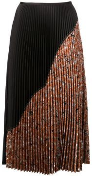 Pleated Half-print Skirt - Cédric Charlier