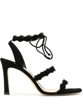 Spike Strap Heeled Sandals - The Seller