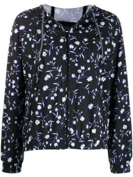 Floral Jacket With Stripe - Dkny