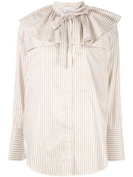 Ruffle Neck Stripe Shirt - 3.1 Phillip Lim