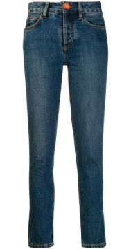 Knitted Patch Pocket Jeans - Alanui