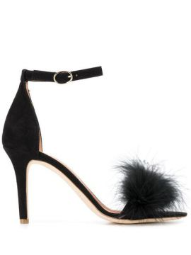 Feather Detail Sandals - Via Roma 15