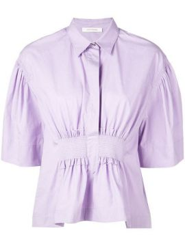 Collared Blouse With Ruched Front - Cédric Charlier