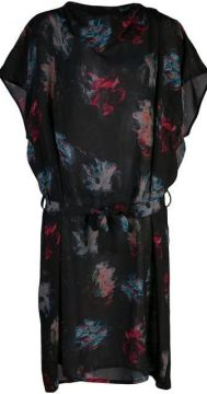 Abstract Print Mini Dress - Anntian