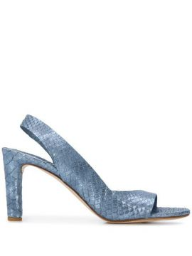 Embossed Slingback Sandals - Del Carlo