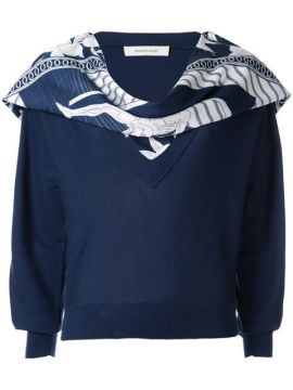 Scarf Embellished Sweater - Cédric Charlier