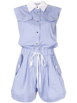 Striped Shirt Playsuit - Comme Moi