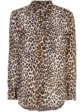 Leopard Print Fitted Blouse - Equipment