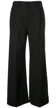 Flared High-waisted Trousers - Brunello Cucinelli