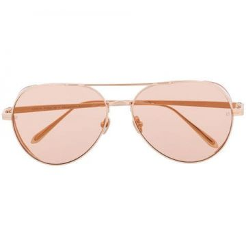 Tinted Aviator Sunglasses - Linda Farrow