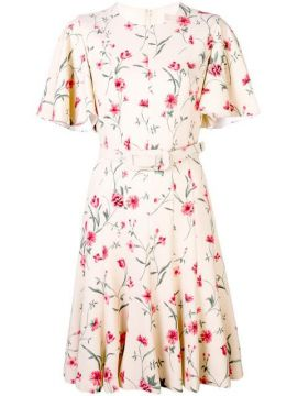 Floral Belted Dress - Michael Kors Collection