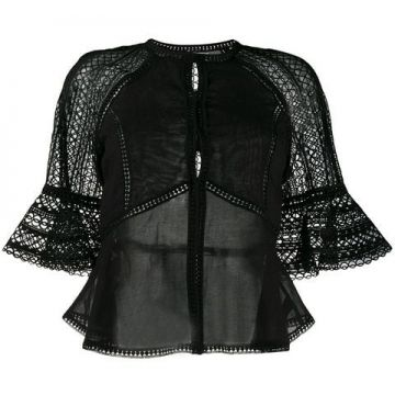 Cut Out Embroidered Blouse - Charo Ruiz