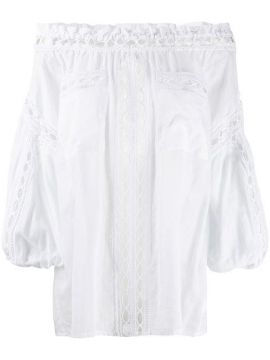 Off-shoulder Embroidered Blouse - Charo Ruiz