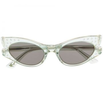 Transparent Cat-eye Sunglasses - Alexander Mcqueen Eyewear
