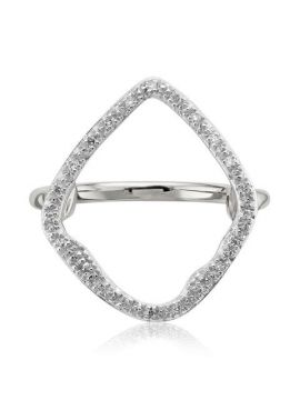 Riva Hoop Diamond Cocktail Ring - Monica Vinader