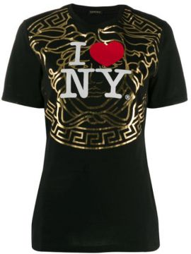 New York-print T-shirt - Versace