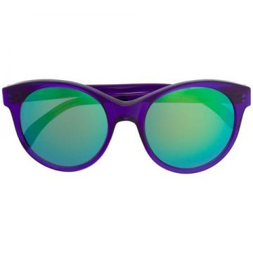 Mirrored Round Frame Sunglasses - Illesteva