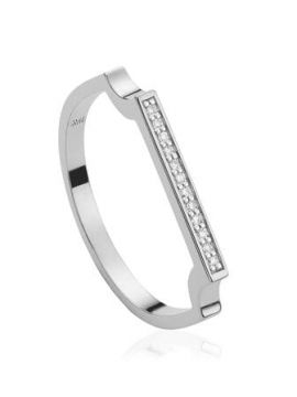Signature Thin Diamond Ring - Monica Vinader
